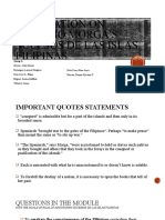 LRIZAL GROUP 1 ANNOTATION (QUOTE STATEMENTS-QUESTIONS IN THE MODULE).pptx