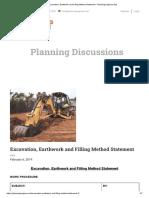 Excavation, Earthwork and Filling Method Statement - Planning Engineer Est_