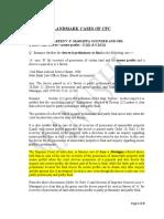Landmark Cases of Cpc (Module 1)