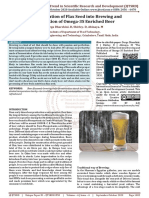 The Integration of Flax Seed into Brewing and Production of Omega 3S Enriched Beer