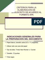 Criterios APA