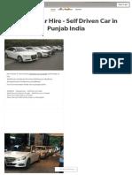 Punjab Car Hire - Self Driven Car in Punjab India