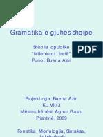 Gramatika e gjuhes shqipe