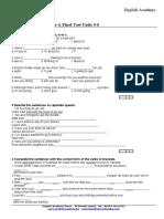 Int A Final Test Units 4-6