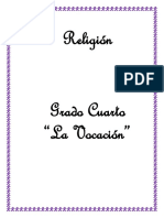 Religión. Grado Cuarto La Vocación