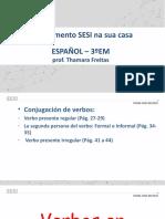 Conjugación de verbos en presente (regulares, irregulares y reflexivos)