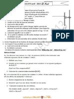 Série d'exercices N°4 - Sciences physiques Dosage acido-basique pH Pousée d'Archimède - 2ème Sciences exp (2012-2013) Mr Lazreg Imed