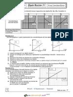 Série d'exercices - Sciences physiques Dipôle résistor - 2ème Sciences (2015-2016) Mr Chattouri Samir