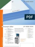 Triumph Adler LP 4033-datenblatt