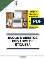 Blogs e Direitos Privados de Etiqueta