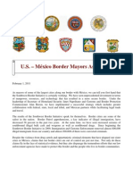 Border Mayors Letter to media