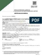 Certificado de vigencia poder TR