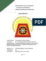 MATEMATICA FINANCIERA GUIA DE PRACTICA  5