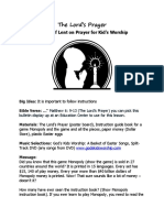 The Lord's Prayer Lent Season for Kid's Worship