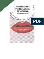 Horney Karen - Psicologia Femenina