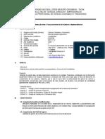 Sílabo de Formulacion y Valuacion de Ee Ff i