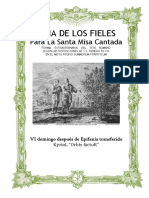 VI Domingo Después de Epifanía Transferido. Guía de los fieles para la santa misa cantada. Kyrial Orbis Factor.