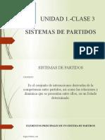 UNIDAD 1- CLASE 3-SISTEMAS DE PARTIDOS