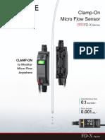 Keyence Clamp On Micro Flow Sensor