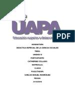TAREA VI DIDACTICA ESPECIAL DE LA CIENCIA SOCIALES