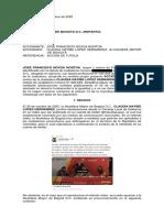 Escrito Acción de Tutela alcaldesa Claudia Díaz Bogotá