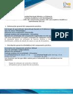Guía para el desarrollo del componente práctico Química Analítica e Instrumental 301102 Virtual