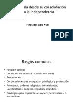 Nueva España desde su consolidación hasta la independencia