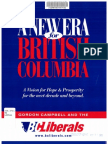 BC Liberal 2001 Platform
