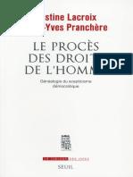 PRANCHÈRE, J.Y. LACROIX, J. Le-procès-des-droits-de-l'Homme