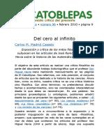 Carlos M. Madrid Casado -- Del cero al infinito