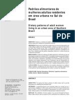 Padrões alimentares de mulheres adultas residentes em área urbana no sul do Brasil