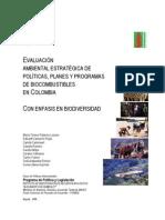 Evaluación Ambiental Estratégica de Biocombustibles
