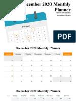 December 2020 Monthly Planner Infographics by Slidesgo