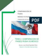 Comparación México vs Rusia