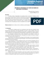 IMPORTÂNCIA E COMPETÊNCIAS REQUERIDAS DO TUTOR NO ENSINO DE