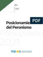 Propuesta Frente de Todos Presupuesto 2021