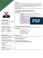 Yasir Khan Updated CV