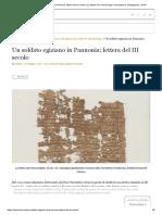 Un soldato egiziano in Pannonia_ lettera del III secolo _ La Storia Viva archeologia, rievocazione, divulgazione, eventi