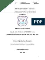 Proyecto Educativo-Betania Caballero