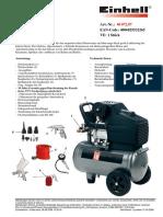 datenblatt _de Einhell  Kompressor-Set