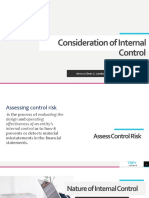 Consideration of Internal Control