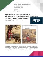 NOTA 10.0, RAMOS CASTANEDA, JI.Aplicacion de intertextualidad a caperucita roja