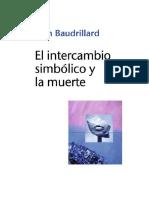 Baudrillard Jean - El Intercambio Simbolico Y La Muerte.rtf