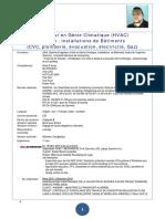 Massinissa Elhadjali - Hvac Engineer Fr - 11 Ans Experiences