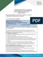 Guia de actividades y rúbrica de evaluación - Unidad 1 - Tarea 1 - Fundamentos, relaciones y funciones