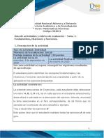 Guía de actividades y rúbrica de evaluación - Unidad 1 - Tarea 1 - Fundamentos, relaciones y funciones