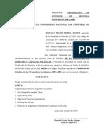 solicitud certificado de estudios unsch derecho