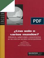 Ciudadanía y educación del sujeto político Libro Uno solo o varios mundos