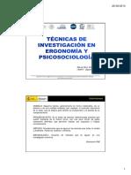3-Tecnicas investigacion en ergonomia