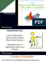 RELACION DE COSTOS, VOLUMEN Y UTILIDAD